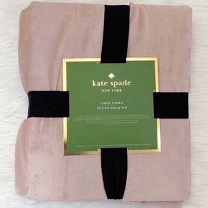 Kate Spade ♠️ Soft Plush Throw-NWT-Blush Pink
